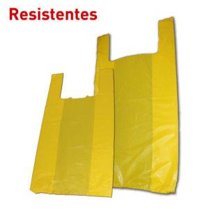 Bolsa de plástico con asas color amarilla