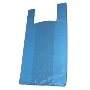Bolsas con asa tipo camiseta azules
