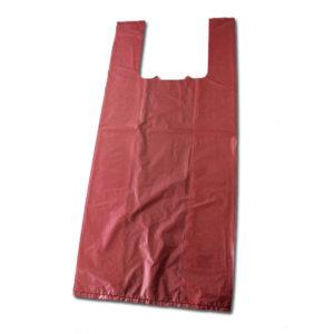 Bolsa de plástico con asas burdeos
