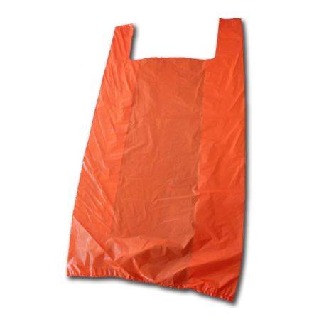 Bolsa de plástico con asas naranja