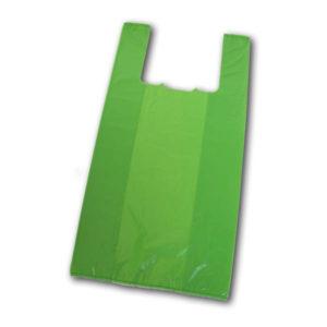 Bolsas con asas tipo camiseta verdes