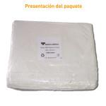 Paquete de bolsas blancas sin asa