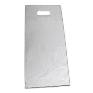 Bolsa de plástico asa troquelada blanca