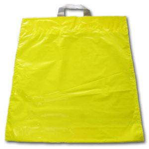 Bolsa de plástico asa lazo AMARILLA