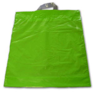 Bolsa de plástico asa lazo VERDE