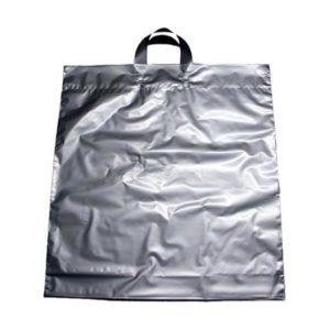 Bolsa de plástico asa lazo PLATA