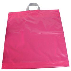 Bolsa de plástico asa lazo ROSA