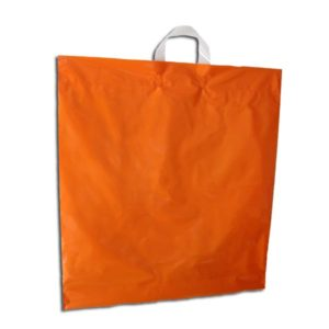 Bolsa de plástico asa lazo NARANJA