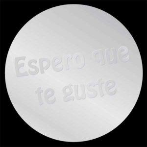 """Etiqueta """"ESPERO QUE TE…"""" PLATA"""