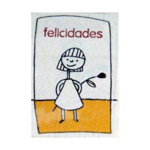 """Etiqueta FELICIDADES """"NIÑA"""""""