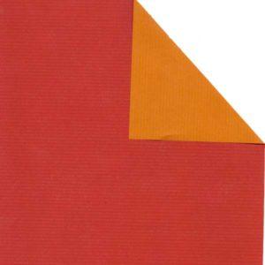 Bobina papel bicolor ROJO/OCRE