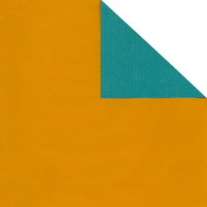 Bobina papel bicolor TURQUESA/MOSTAZA
