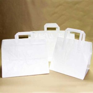 Bolsa de papel TAKE AWAY BLANCA