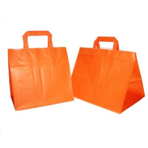 Bolsa de papel TAKE AWAY NARANJA