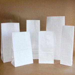 Bolsa papel base cuadrada BLANCA