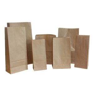 Bolsa base cuadrada KRAFT RECICLADO