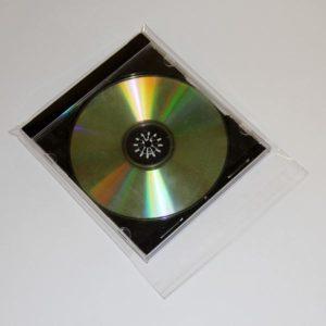 Funda polipropileno con solapa adhesiva para CD / DVD