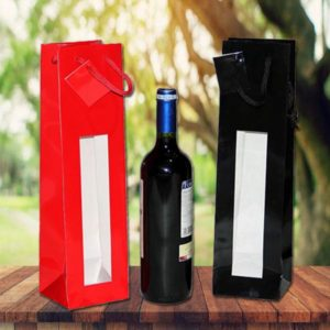 Bolsa de lujo para botellas con ventana