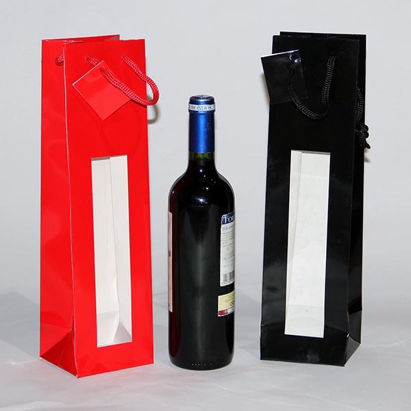 a60d6fb4a Bolsa de lujo para botellas con ventana – Iberbag
