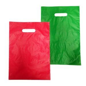 Bolsa de plástico asa troquel 25 x 35 cm ECO