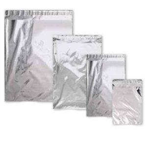 Sobres metalizados PLATA con adhesivo