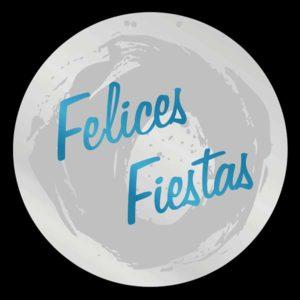 Etiqueta FELICES FIESTAS PLATA/AZUL