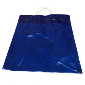 Bolsa de plástico asa lazo AZUL ECO