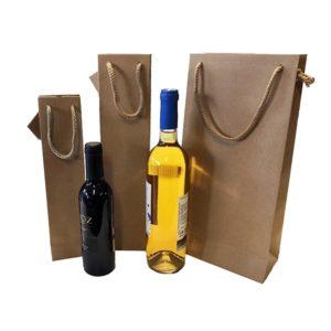 Bolsa botellero KRAFT con cordón