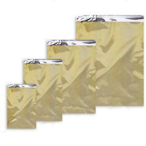 Sobres metalizados ORO con adhesivo