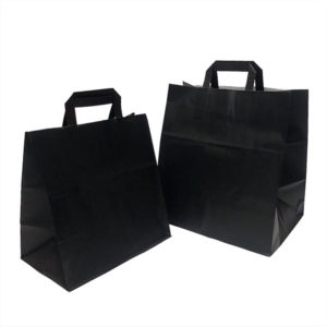 Bolsa de papel TAKE AWAY NEGRA
