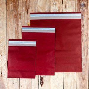 Sobres de papel «ROJO» con adhesivo